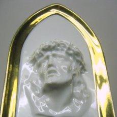 Antigüedades: PORCELANA LIMOGES - CAPILLA CON ROSTRO DE JESUS EN RELIEVE. Lote 51385639