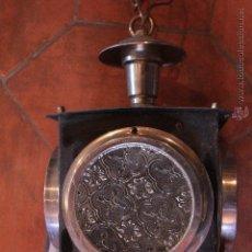 Antigüedades: FAROL O LAMPARA TIPO CARRUAJE, PARA COLGAR EN EL TECHO. EN BUEN ESTADO.. Lote 51386662