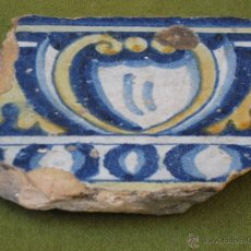 Antigüedades: AZULEJO ANTIGUO DE TALAVERA / TOLEDO - TECNICA PINTADA LISA - RENACIMIENTO - SIGLO XVI.. Lote 51387314