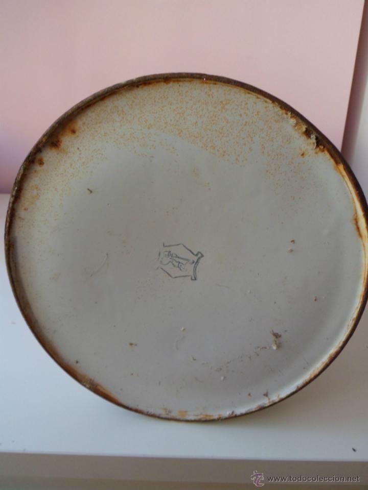 Antigüedades: antigua jarra de latón esmaltado bonita - Foto 4 - 51391072