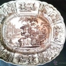 Antigüedades: BANDEJA SARGADELOS TERCERA EPOCA GONDOLA, COLOR MARRON . Lote 51392063