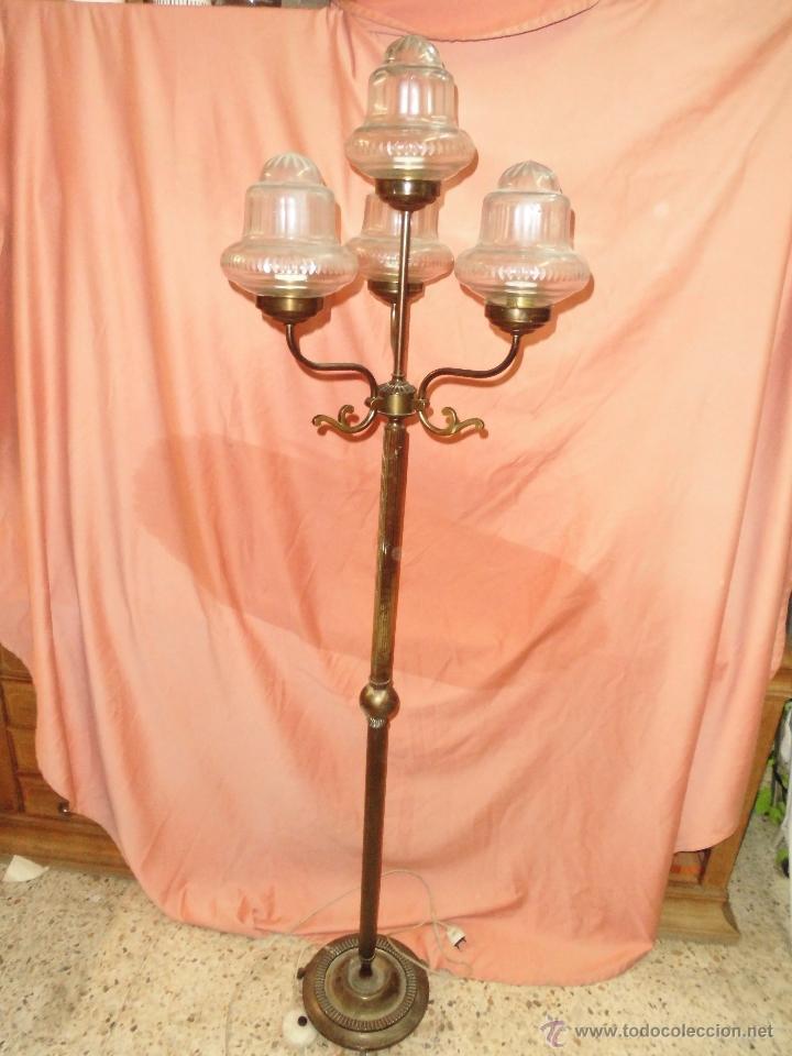 de antigua y en lampara en bronce pie Sensacional Vendido jpqzMLSUVG
