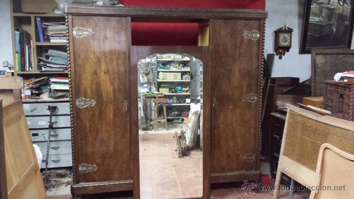 Armario valenciano realizado en madera de raiz comprar armarios antiguos en todocoleccion - Herrajes muebles antiguos ...