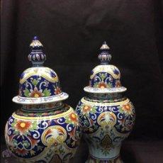 Antigüedades: PAREJA DE TIBOR. FRANCIA. CERÁMICA DE ROUEN?. Lote 51411058