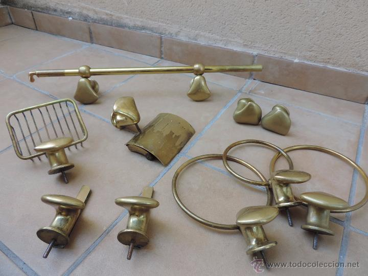 Antiguo set conjunto o accesorios de ba o con comprar for Conjunto de accesorios de bano