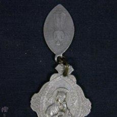 Antigüedades: MEDALLA ALUMINIO SAGRADO CORAZON NUESTRA SEÑORA PERPETUO SOCORRO Y DESGASTADA ESCLAVITUD 4,5X3,3 CM. Lote 51423940