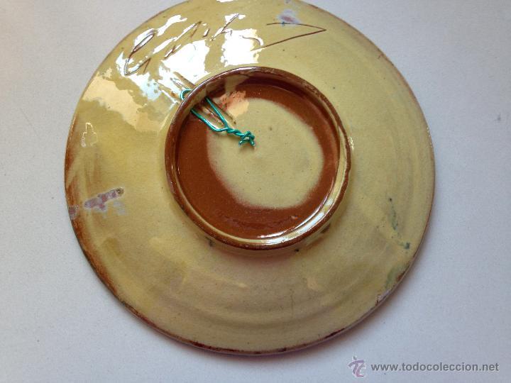Antigüedades: PLATO DE CERAMICA DECORADO CON UN PEZ. FIRMADO - Foto 4 - 51425764