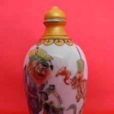 Antiguidades: ORIGINAL TABAQUERA CHINA DE PORCELANA. SNUFF BOTTLE DECORADA A MANO. Lote 51428888