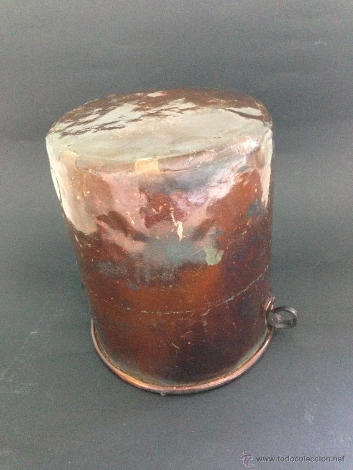 ANTIGUO CUBO DE COBRE (Antigüedades - Técnicas - Rústicas - Utensilios del Hogar)