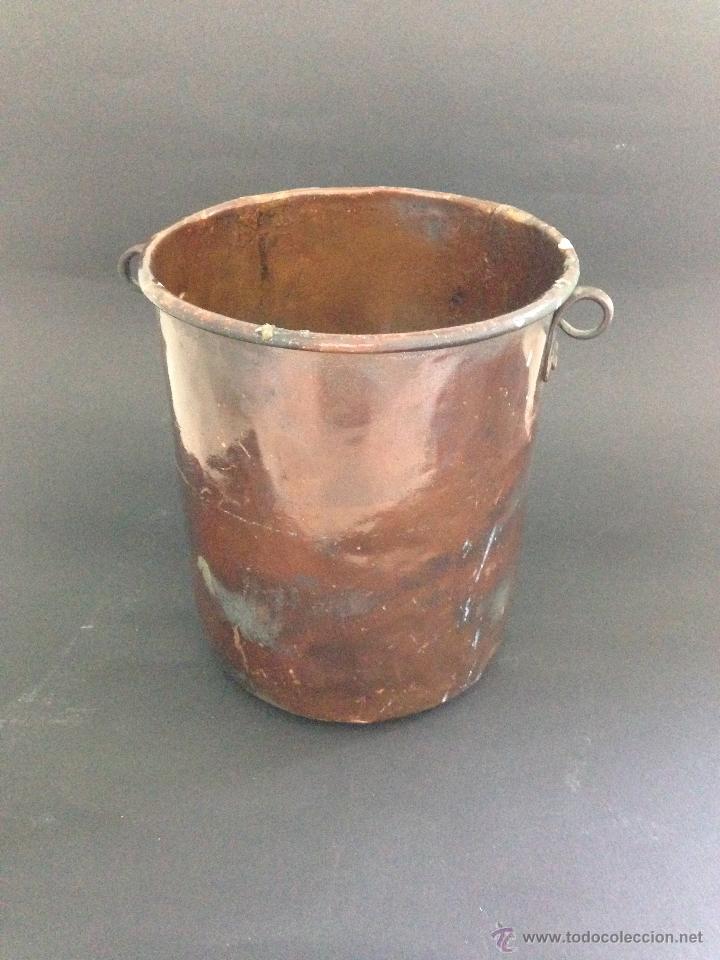 Antigüedades: ANTIGUO CUBO DE COBRE - Foto 3 - 51435388