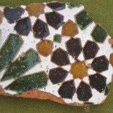 Antigüedades: AZULEJO ANTIGUO DE TOLEDO - ARISTA - ARABE - SIGLO XVI.. Lote 51441585
