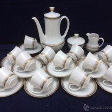 Antigüedades: JUEGO ANTIGUO DE CAFE PORCELANA DE BAVARIA SELLADO WINTERLING. Lote 51443464