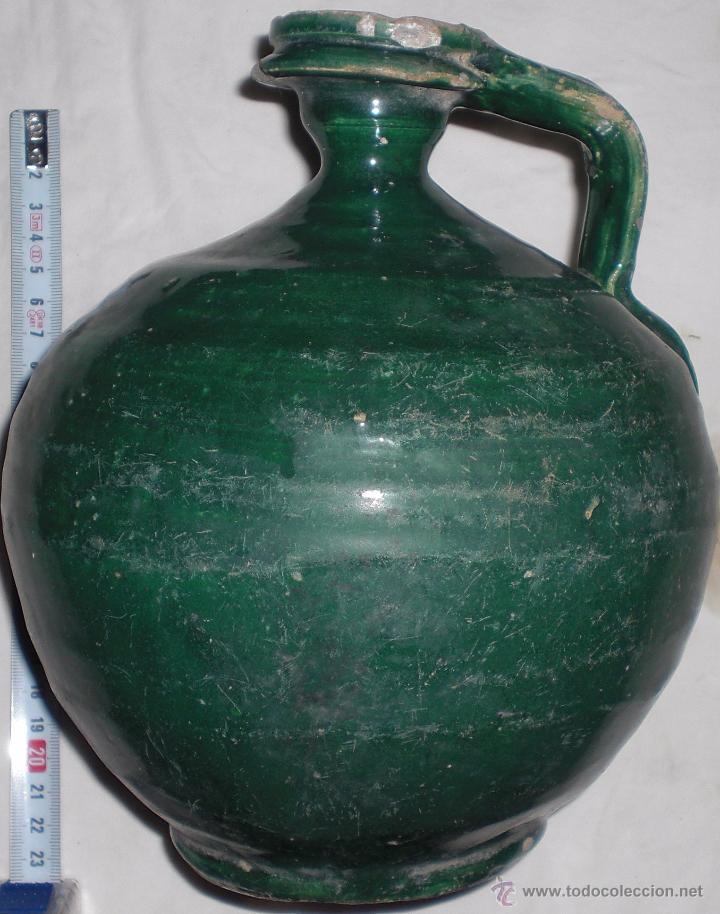 ANTIGUA JARRA CERAMICA PERULA DE ÚBEDA FINALES DEL SIGLO XIX (Antigüedades - Porcelanas y Cerámicas - Úbeda)