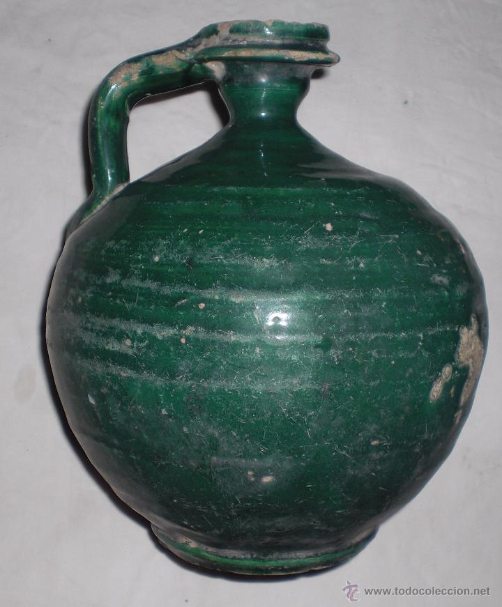 Antigüedades: Antigua jarra ceramica perula de úbeda finales del siglo XIX - Foto 3 - 51447346