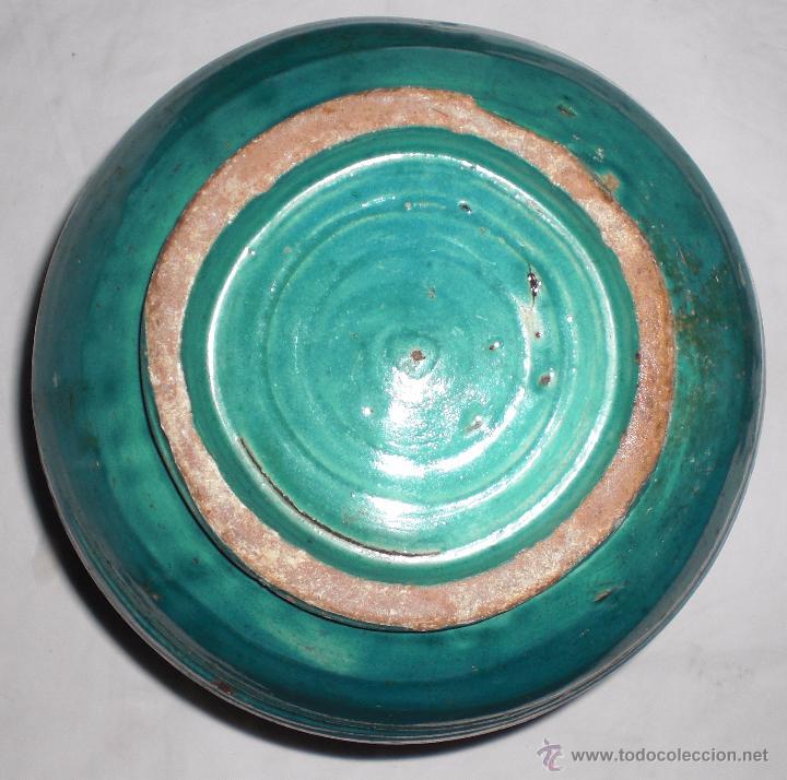 Antigüedades: Antigua jarra ceramica perula de úbeda preciosa, color esmeralda, finales del siglo XIX - Foto 4 - 51447363
