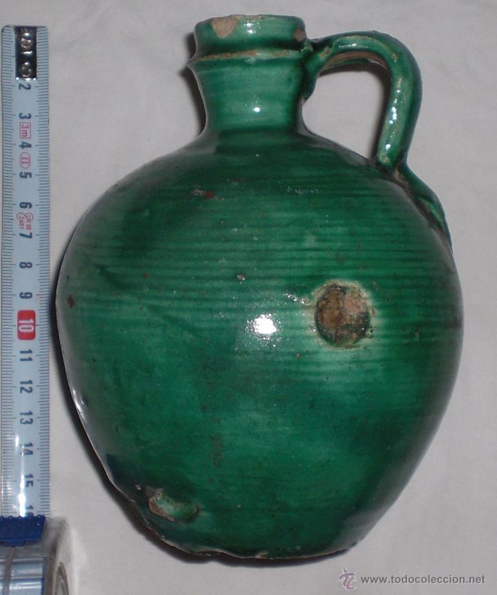 ANTIGUA PERULA DE ÚBEDA PRECIOSA, COLOR ESMERALDA, FINALES DEL SIGLO XIX (Antigüedades - Porcelanas y Cerámicas - Úbeda)