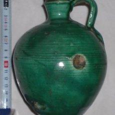 Antigüedades: ANTIGUA PERULA DE ÚBEDA PRECIOSA, COLOR ESMERALDA, FINALES DEL SIGLO XIX. Lote 51447407