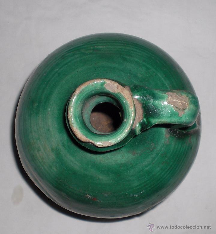 Antigüedades: Antigua perula de úbeda preciosa, color esmeralda, finales del siglo XIX - Foto 2 - 51447407