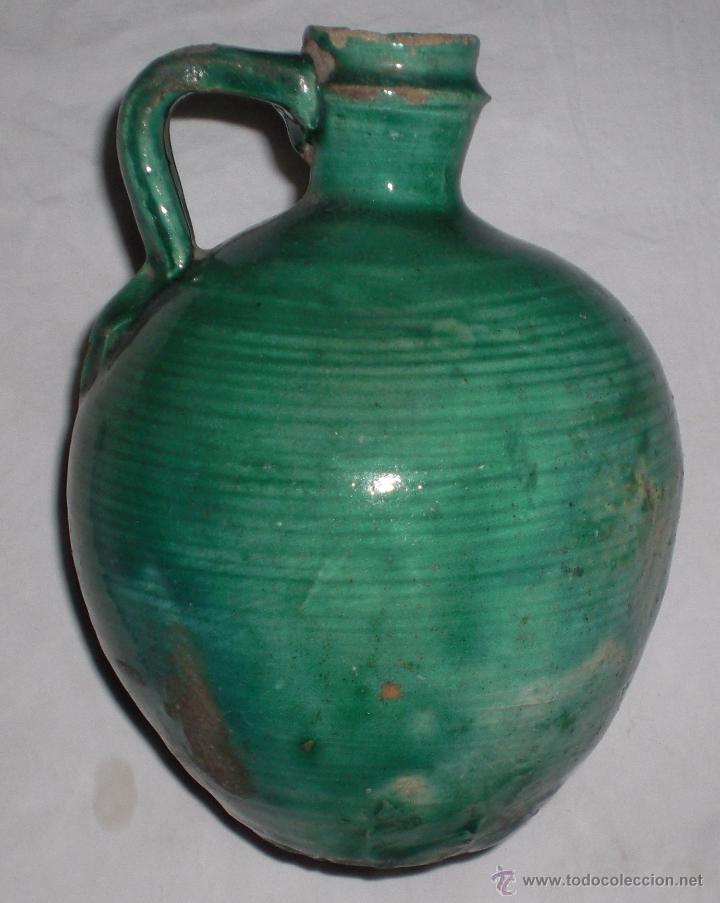 Antigüedades: Antigua perula de úbeda preciosa, color esmeralda, finales del siglo XIX - Foto 3 - 51447407