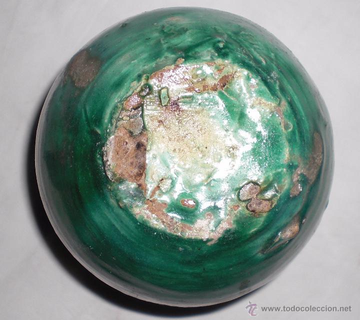 Antigüedades: Antigua perula de úbeda preciosa, color esmeralda, finales del siglo XIX - Foto 4 - 51447407