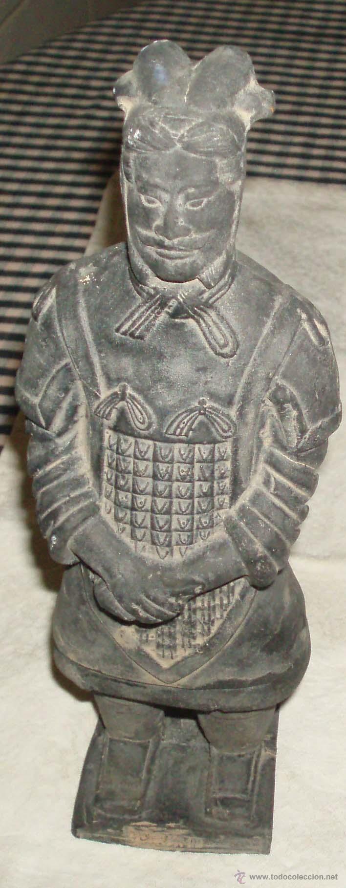 GUERRERO DE XIAN TERRACOTA (Antigüedades - Hogar y Decoración - Figuras Antiguas)