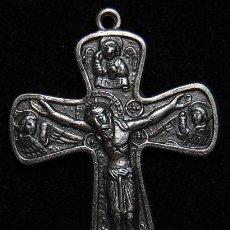 Antigüedades: CRUZ DE METAL SOBREPLATEADA. Lote 51449311