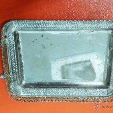 Antigüedades: ANTIGUA BANDEJA CROMADA.. Lote 51453545