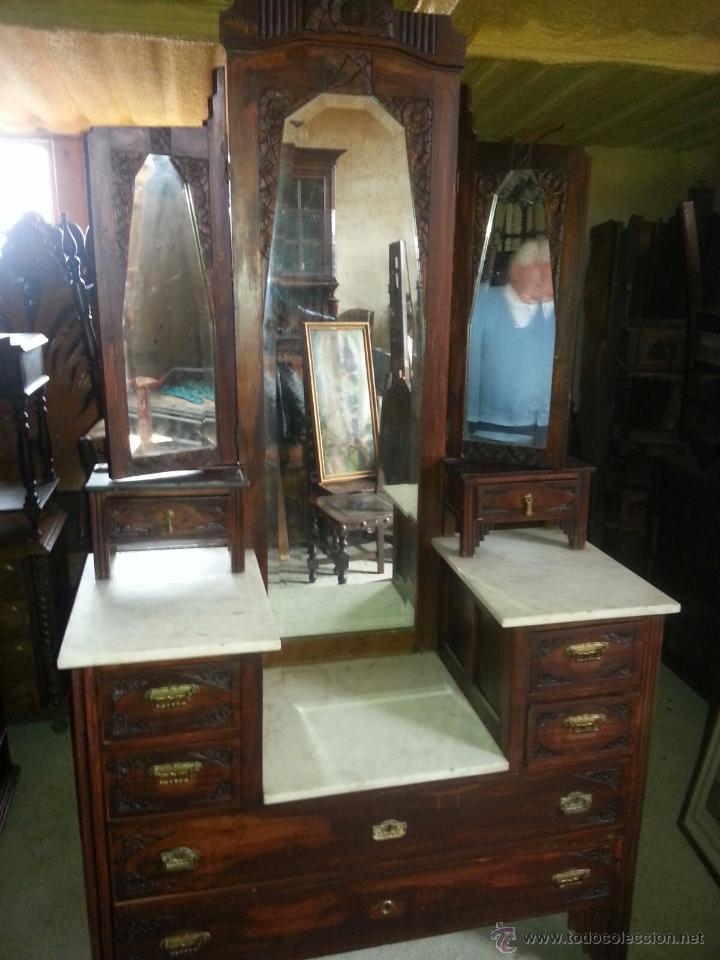 Mueble antiguo de entrada o sal n con m rmoles comprar - Muebles de salon antiguos ...