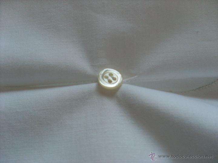 Antigüedades: Sábanas blancas bordadas y dos almohadas a juego - Foto 5 - 51458519