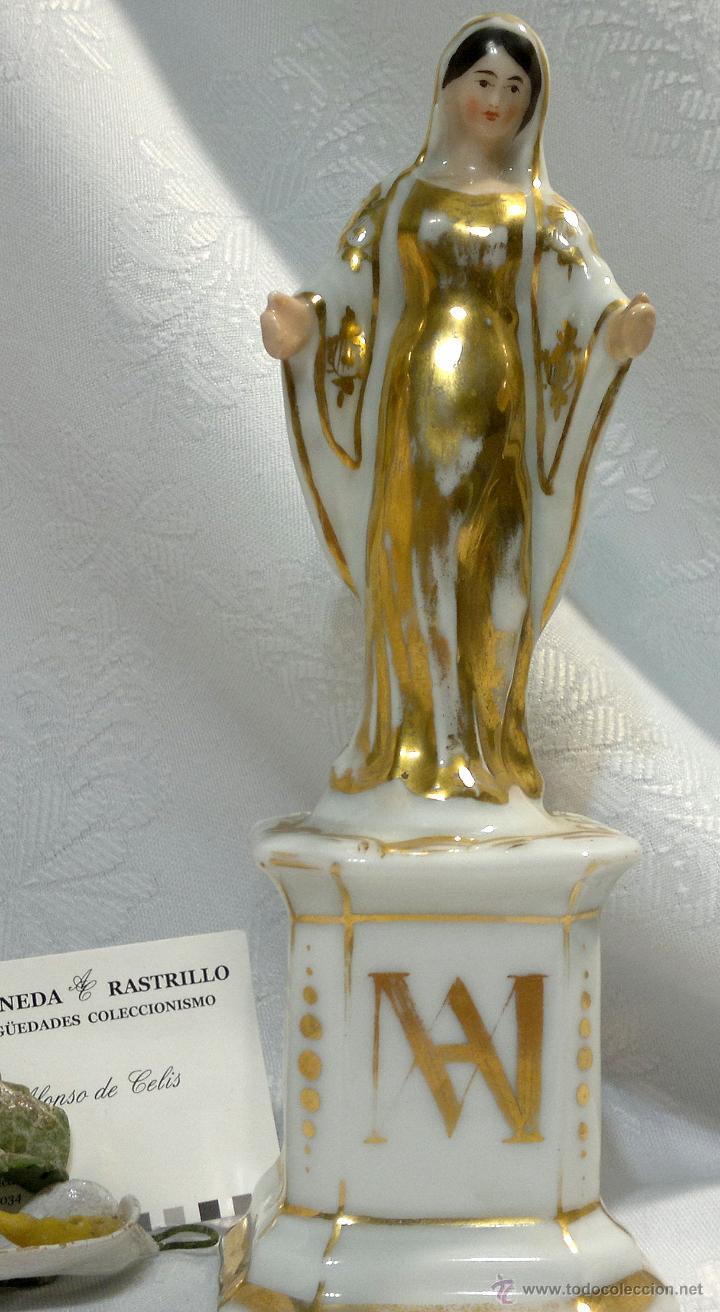 SANTA ANA.- ANTIGUA FIGURA EN PORCELANA.-VIEJO PARIS.- (Antigüedades - Porcelana y Cerámica - Francesa - Limoges)