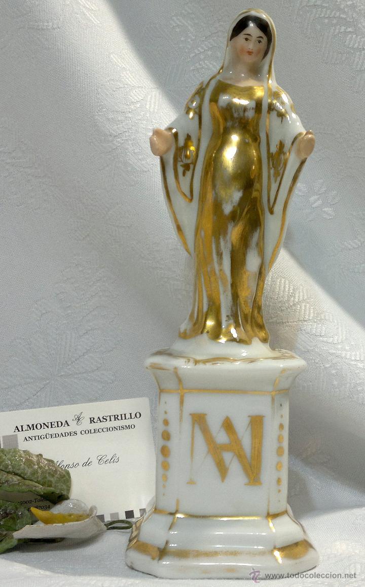 Antigüedades: SANTA ANA.- ANTIGUA FIGURA EN PORCELANA.-VIEJO PARIS.- - Foto 3 - 51464748