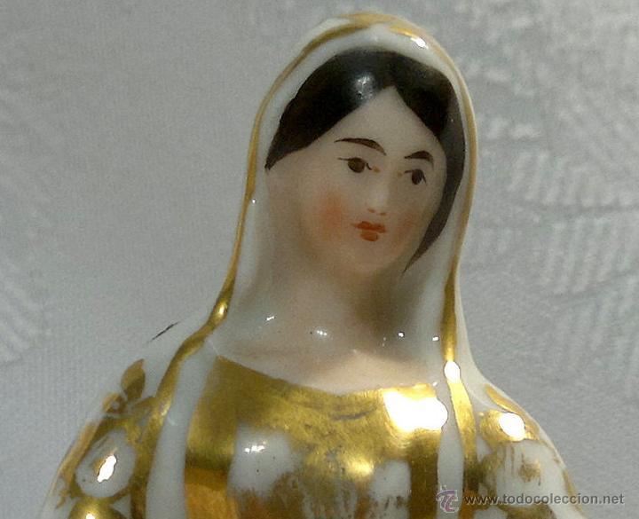 Antigüedades: SANTA ANA.- ANTIGUA FIGURA EN PORCELANA.-VIEJO PARIS.- - Foto 13 - 51464748
