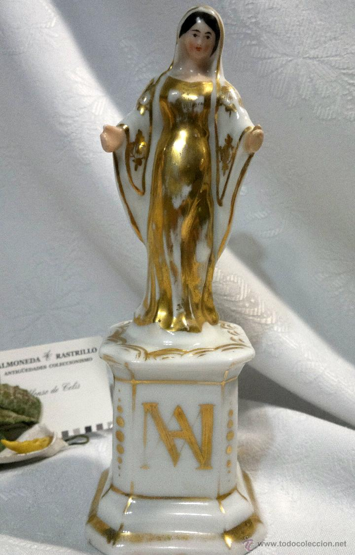 Antigüedades: SANTA ANA.- ANTIGUA FIGURA EN PORCELANA.-VIEJO PARIS.- - Foto 19 - 51464748