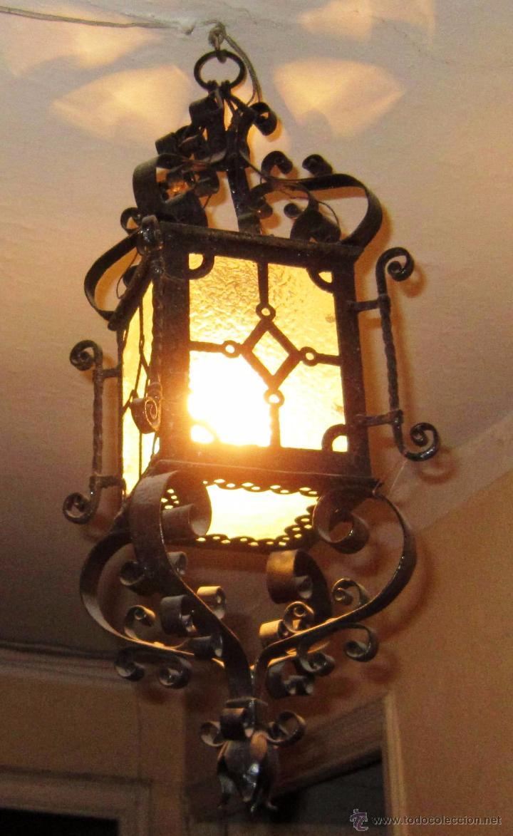antiguo farol de hierro forjado - Comprar Faroles Antiguos en ...