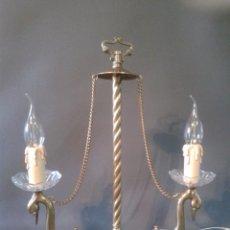 Antigüedades: LAMPARA DE SOBREMESA BRONCE. Lote 51470024