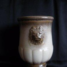 Antigüedades: CENTRO DE MESA O JARRÓN VINTAGE AÑOS 70 BAY.W.KERAMIK ALEMANIA OCCIDENTAL FAT LAVA. Lote 51478915