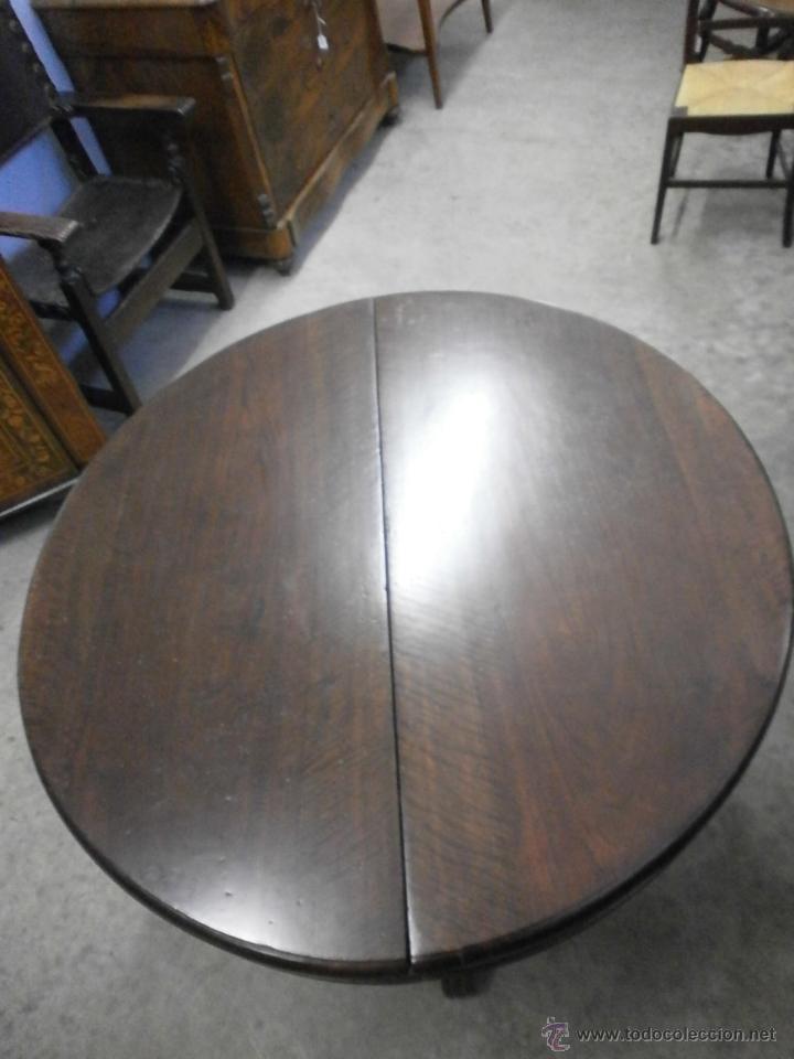 Antigüedades: Antigua mesa redonda - Isabelina - de comedor - extensible - madera de nogal - siglo XIX - Foto 8 - 53717507