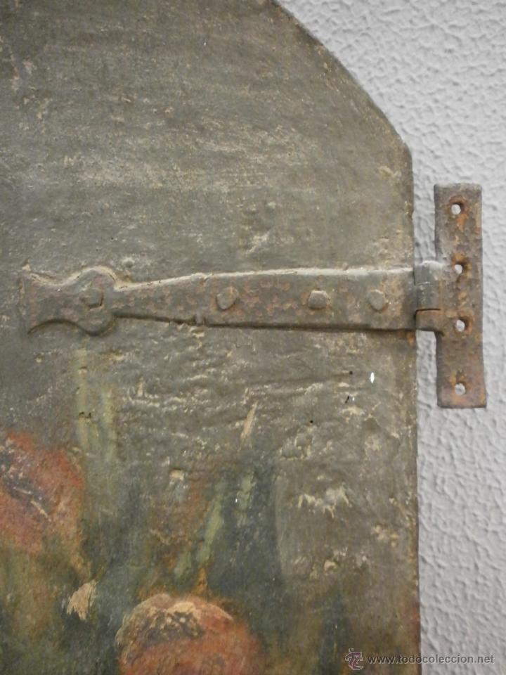Antigüedades: Antigua pareja de puertas - Barrocas - policromadas dos caras - siglo XVIII - capilla etc... - Foto 5 - 51488214