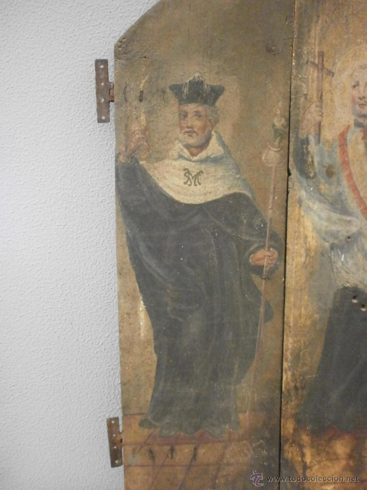 Antigüedades: Antigua pareja de puertas - Barrocas - policromadas dos caras - siglo XVIII - capilla etc... - Foto 9 - 51488214