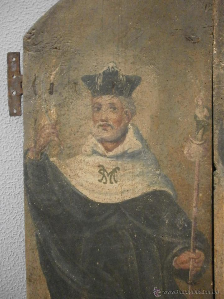 Antigüedades: Antigua pareja de puertas - Barrocas - policromadas dos caras - siglo XVIII - capilla etc... - Foto 10 - 51488214