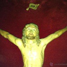 Antigüedades: TALLA CRISTO 36CMS ALTO X 30 DE MANO A MANO. Lote 51509349
