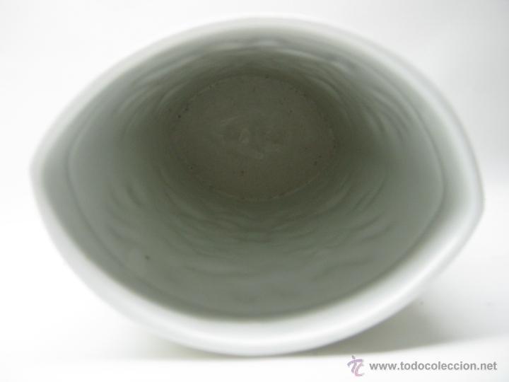Antigüedades: jarron florero espigas 24 cm porcelana - Foto 2 - 51515601