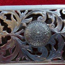 Antigüedades: PITILLERA PLATA MEXICANA. Lote 51518552
