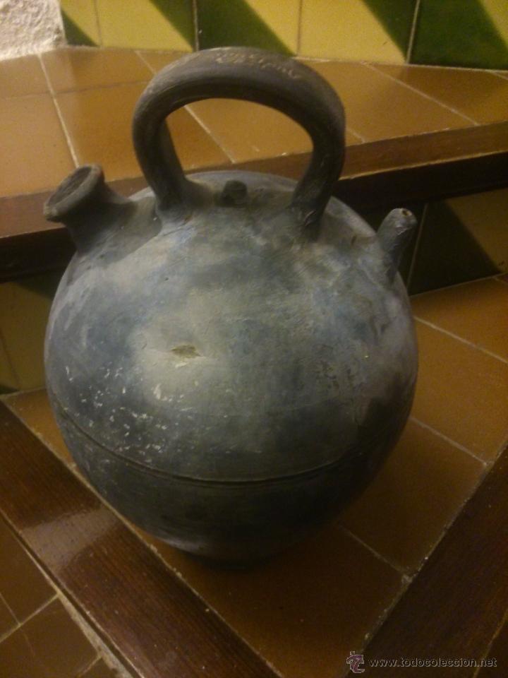 Antigüedades: * ANTIGUO CÁNTARO DE CERÁMICA NEGRA PPSS S.XX DE VERDÚ.JOSEP FONT - Foto 3 - 51518639