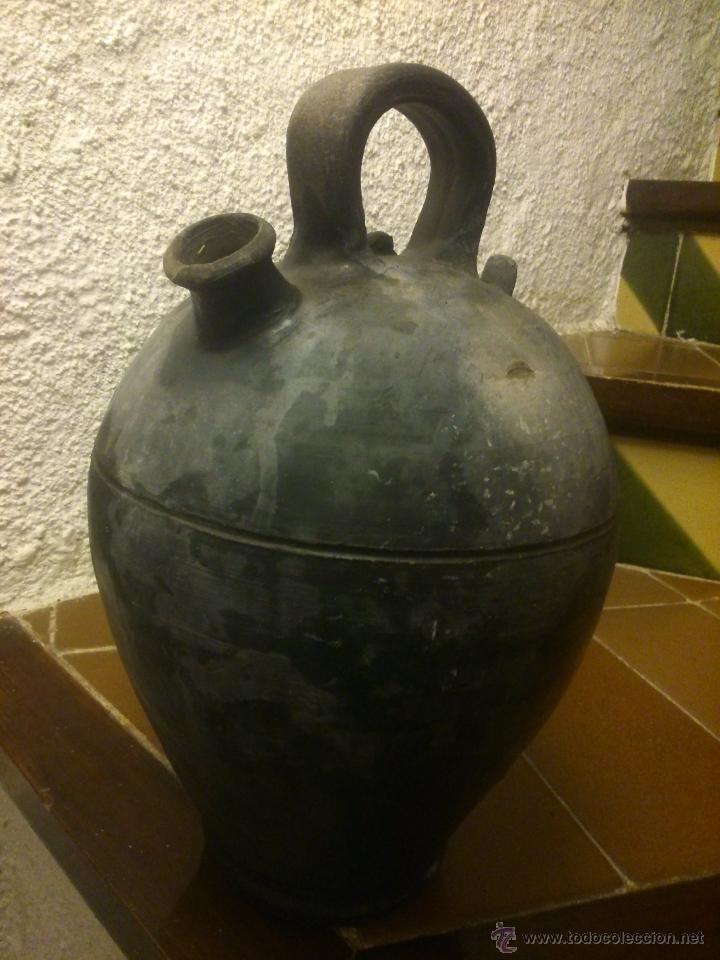 Antigüedades: * ANTIGUO CÁNTARO DE CERÁMICA NEGRA PPSS S.XX DE VERDÚ.JOSEP FONT - Foto 5 - 51518639