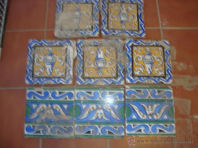 LOTE AZULEJOS (Antigüedades - Porcelanas y Cerámicas - Azulejos)