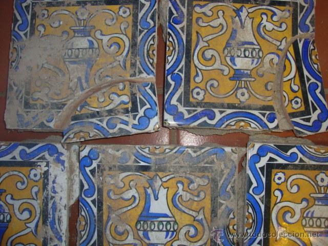 Antigüedades: lote azulejos - Foto 3 - 51521692
