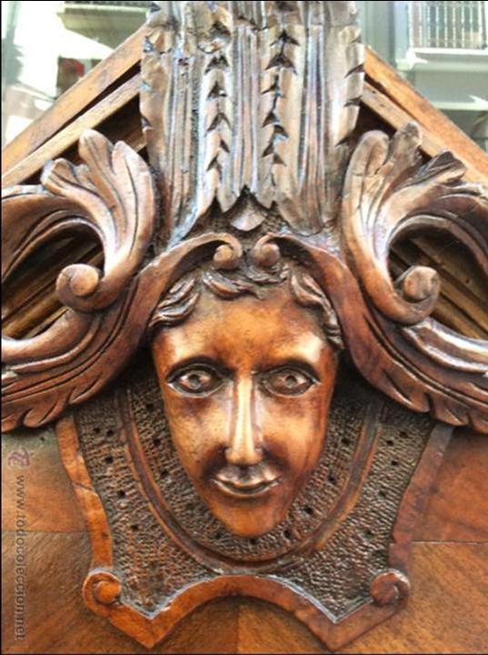 Espejo de nogal estilo imperio comprar espejos antiguos for Muebles estilo imperio