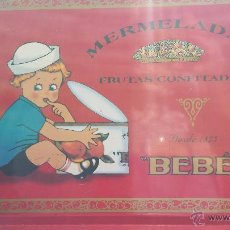 Antigüedades: ANTIGUA BANDEJA DE METAL GRANDE DE PUBLICIDAD DE MERMELADAS BEBÉ; BUEN ESTADO EN GENERAL. Lote 51537504