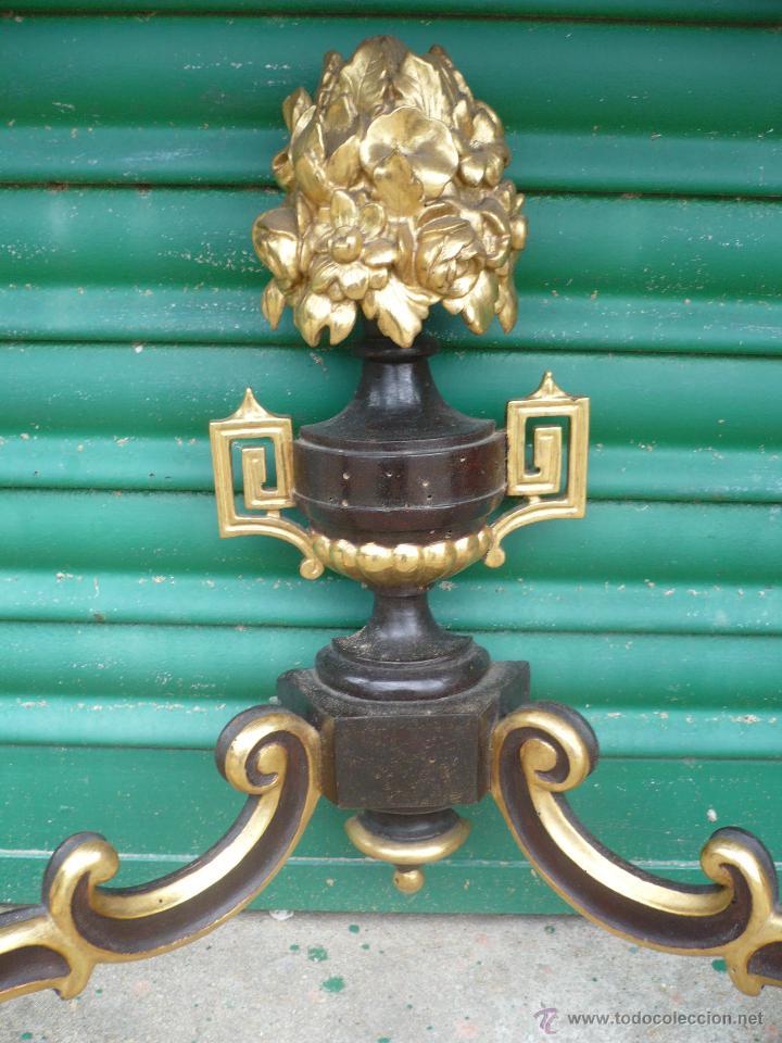 Antigüedades: Consola de pared Isabelina de nogal y dorada con mármol - Foto 5 - 51544168